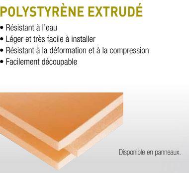 polystyrène extrudé
